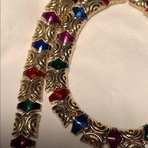 Enamel Bracelet/Necklace set Vintage/Antique EC